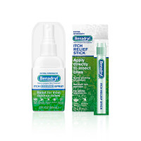 Benadryl Extra Strength Cooling Anti-Itch Spray 2 fl. Oz and Benadryl Extra Strength Itch Relief Stick 0.47 fl. oz, both with Diphenhydramine 1 ea [191897535345]