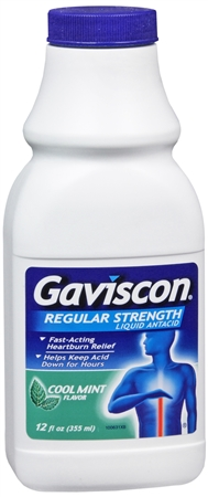Gaviscon Liquid Regular Strength Cool Mint Flavor 12 oz [300881171128]