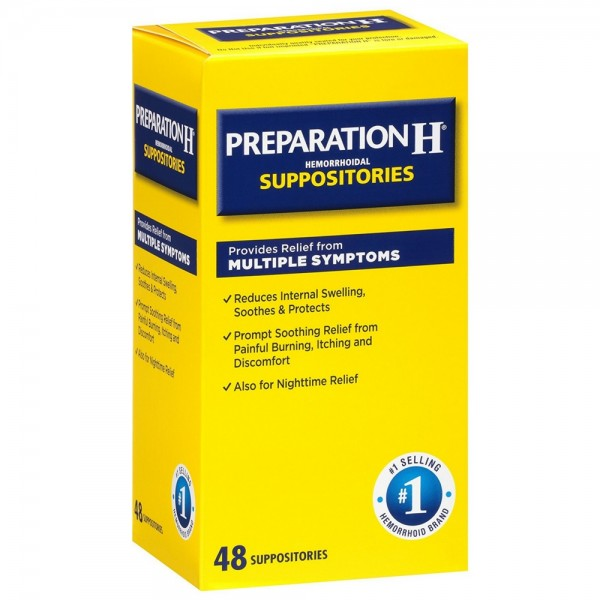 Preparation H Hemorrhoidal Suppositories 48 Ea Pharmapacks