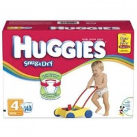 Baby Diaper Huggies Snug  Dry Tab Closure Size 4 Disposable Heavy Absorbency - 12 ea [036000105186]