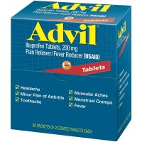 Advil Ibuprofen, 200mg, 50 Packets of 2 Coated Tablets [305730154895]