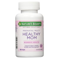 Nature's Bounty Optimal Solutions Healthy Mom Prenatal Multivitamin Softgels 60 ea [074312648212]