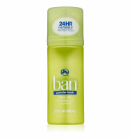 Ban Anti-Perspirant Deodorant Original Roll-On Powder Fresh 3.50 oz [019045053834]