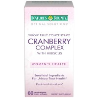 Nature's Bounty Optimal Solutions Cranberry Complex with Hibiscus Liquid Softgel 60 ea [074312579622]