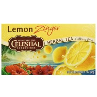 Celestial Seasonings Lemon Zinger Caffeine Free Natural Herb Tea 20 ea [070734053177]