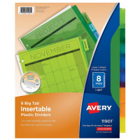 Avery Big Tab Insertable Plastic Dividers 8 ea [072782119010]
