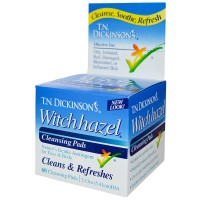 T.N. Dickinson's Witch Hazel Cleansing Pads, Clean & Refreshes 60 ea [052651000106]