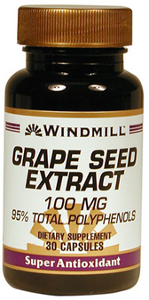 Windmill Grape Seed Extract 100mg Capsules  30 ea [035046004552]