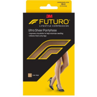 FUTURO Energizing Ultra Sheer Pantyhose For Women French Cut Mild Plus Nude, 1 Pair [051131201354]