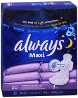Always Maxi Pads Overnight Extra Heavy Flow 20 Each [037000179023]