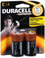 Duracell Coppertop C Alkaline Batteries 1.5 Volt 2 Each [041333214016]