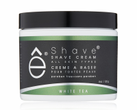 eShave Shave Cream, White Tea 4 oz [613443140099]