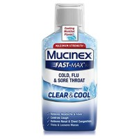 Mucinex Fast-Max Clear & Cool Cold, Flu, & Sore Throat Liquid 6 oz [363824542669]