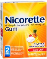 Nicorette Gum 2 mg Fruit Chill 100 Each [307667857504]