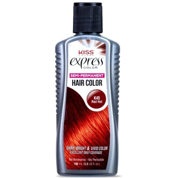 Kiss Express Color Semi Permanent Hair Color Red Hot K45 35 Oz