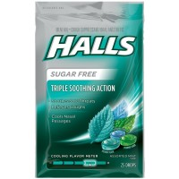 Halls Mentho-Lyptus Drops Sugar Free Assorted Mint 25 Each [312546632639]