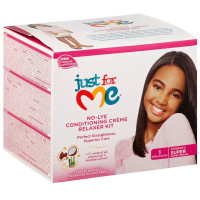 Soft & Beautiful Just For Me No-lye Conditioning Creme Relaxer Kit, Super 1 ea [072982449405]