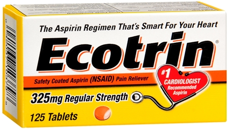 Ecotrin 325 mg Regular Strength Tablets 125 Tablets [349692903771]