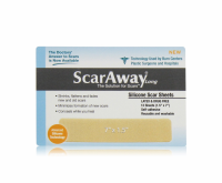 ScarAway 1.5 in. x 7 in. Fabric-Backed, Protective Silicone Scar Sheets 12 ea [895384002043]