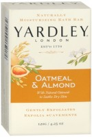 Yardley London Moisturizing Bar Oatmeal & Almond with Natural Oats 4.25 oz [041840001062]