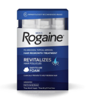 Rogaine Men's Easy-To-Use Foam 6.33 oz, 3 ea [312547781350]