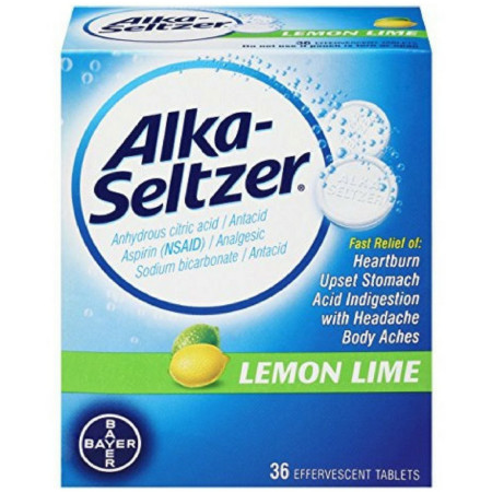 Alka-Seltzer Heartburn Relief 36 Effervescent Tablets, Lemon Lime [016500567301]