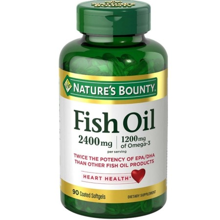 Nature's Bounty Fish 2400 mg OilSoftgels 90 ea [074312171307]