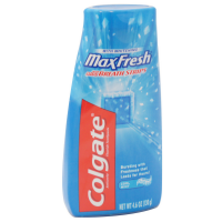 Colgate MaxFresh Fluoride Toothpaste with Mini Breath Strips, Whitening, Cool Mint 4.6 oz [035000764546]