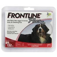 Frontline Plus Flea & Tick Control For Extra Large Dogs, 89-132 lbs 3 ea [350604287308]