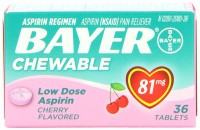 Bayer Chewable Low Dose Aspirin 81mg Cherry Flavored 36 Tablets [312843132313]