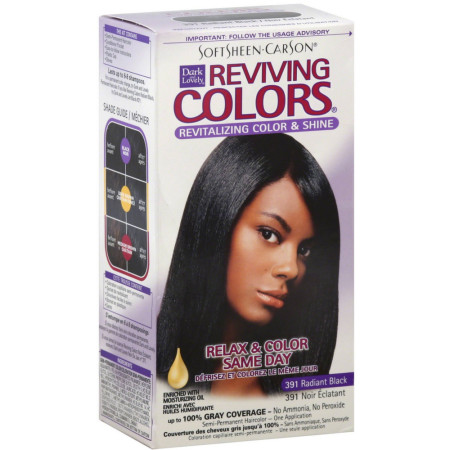 Dark and Lovely Reviving Colors, No.391, Radiant Black, 1 ea [075285003305]