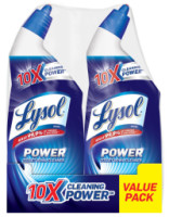 Lysol Power Toilet Bowl Cleaner 10X Cleaning Power 48oz (2X24oz) [019200791748]