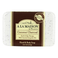 A La Maison de Provence Earth & Spa Therapy Soap Bar, Coconut Charcoal 8.8 oz [817252012909]