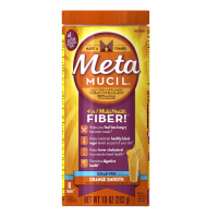 Metamucil Multi-Health Fiber, Orange Smooth Sugar Free 48 Teaspoons 10 oz [037000740834]