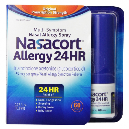 Nasacort Allergy 24 Hour 60 Sprays, 0.37 oz [041167580035]