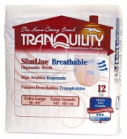 Tranquility SlimLine Breathable Adult Disposable Brief - XL - 12 ea [070319023076]