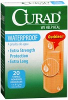 Curad Waterproof Bandages 1 X 3-1/4 Inches 20 Each [080196320847]