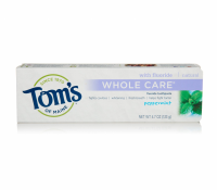 Tom's of Maine Whole Care with Fluoride Natural Toothpaste, Peppermint 4.7 oz [077326830819]
