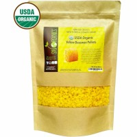 Sky Organics  Organic Yellow Beeswax Pellets - 3 x Filtered, Easy Melt Pastilles- for DIY, Candles, Skin Care, Lip Balm, 1 lb 1  ea [856045007241]