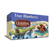 Celestial Seasonings Caffeine Free Herbal Tea, True Blueberry 20 ea [070734070754]