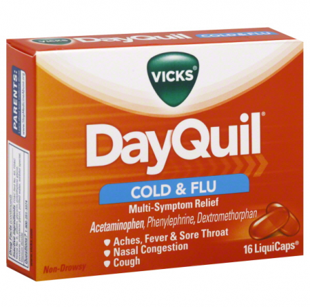 Vicks Dayquil Cold & Flu Relief LiquiCaps 16 ea [323900014428]