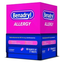 Benadryl Allergy Ultratab Packet Dispensers 60 ea [300450170606]