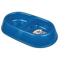 Petmate Small Double Dish Ultra-Light Microban Pet Dish 1 ea [029695231742]