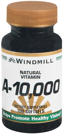 Windmill Vitamin A 10,000 IU Softgels 100 Soft Gels [035046001063]