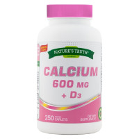 Nature's Truth 600 mg + D3 Dietary Suppleme, 250 ea  [840093105950]