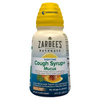 ZarBee's Naturals  Nighttime Cough Syrup + Mucus Reducer, Dark Honey & Lemon, 8 oz [858438005810]