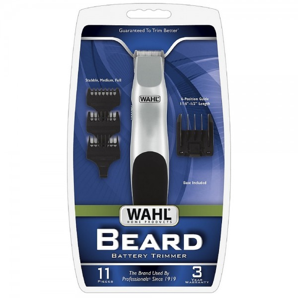 wahl cordless battery operated beard trimmer 1 ea pharmapacks. Black Bedroom Furniture Sets. Home Design Ideas