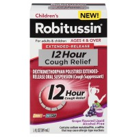 Robitussin  Extended Release 12 Hours Cough Relief Liquid, Grape Flavored 3 oz [300318726105]