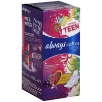 Always Totally Teen Radiant Pads With Flexi-wings, Regular 28 ea [037000839033]