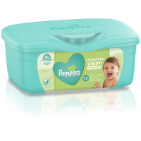Pampers Baby Wipes Complete Clean Unscented 72 ea [037000755326]